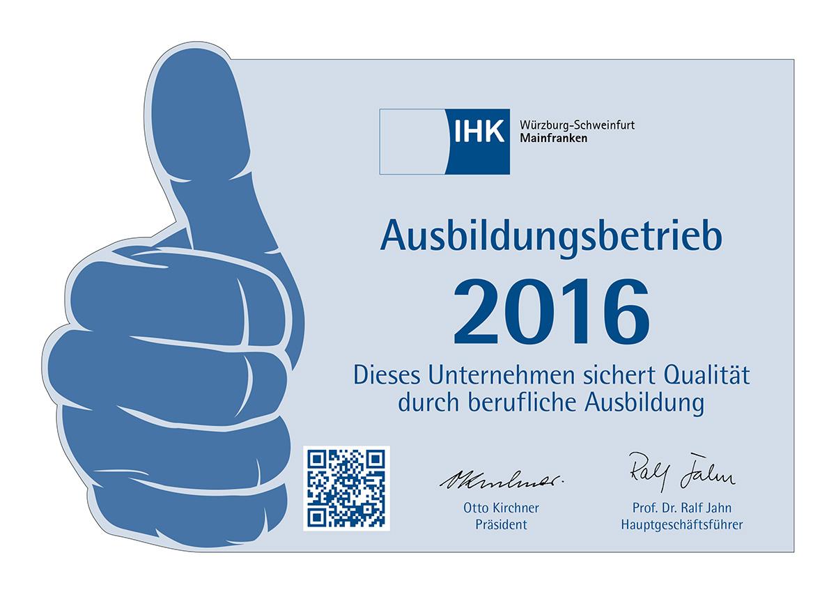 IHK-Ausbildungsbetrieb 2016
