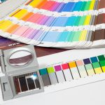 Farbfächer, Lupe, Testausdruck