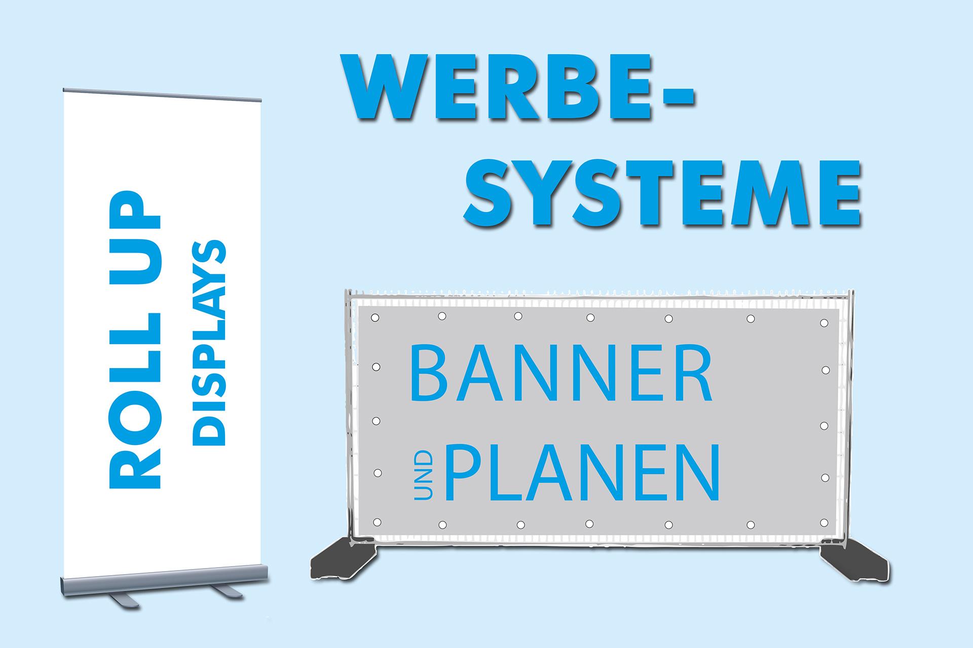 Werbesysteme: Banner, Roll-Ups und mehr