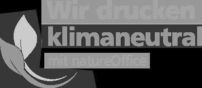 Logo Wir drucken klimaneutral